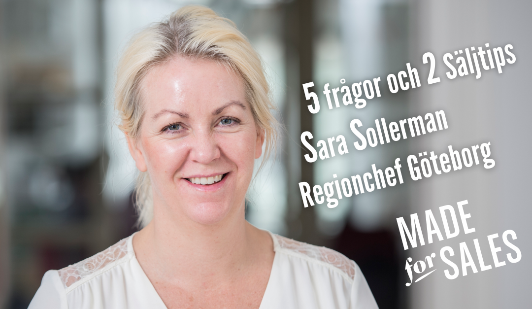 Sara Sollerman regionchef på Made for Sales Göteborgskontor